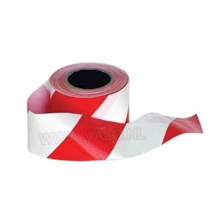 Populair Afbakenlint rood wit op een rol van 500 meter voor het afzetten QT66