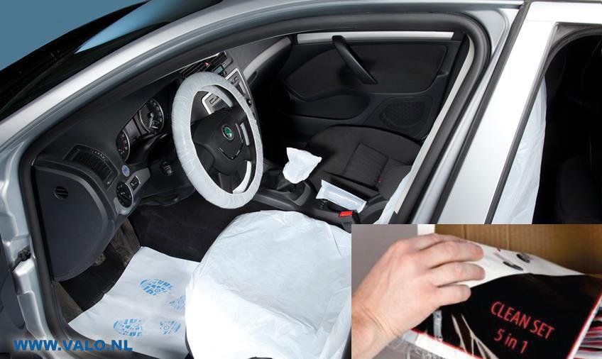 auto interieur beschermingsset 5 delig voor complete